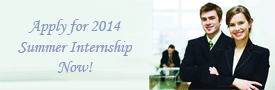 Apply for 2014 Summer Internship Now!